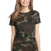 Ladies Perfect Weight ® Camo Crew Tee